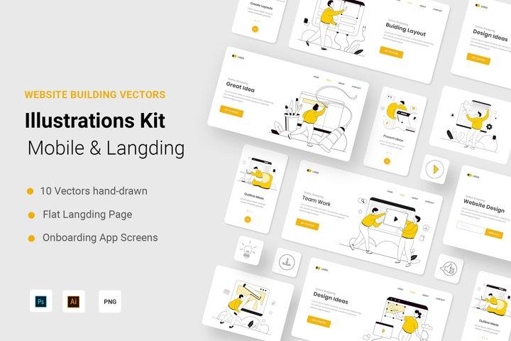 Buiding Website Illustration Kit