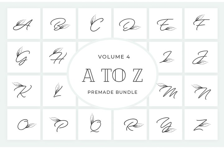 Vol.4 Alphabets Logo Templates