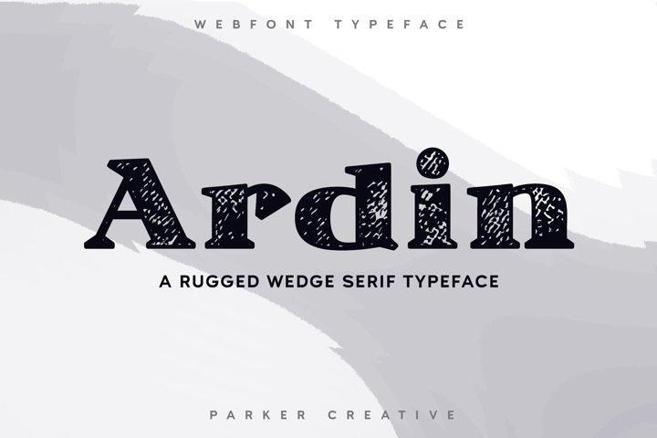 Ardin   Distressed Wedge Serif Webfont