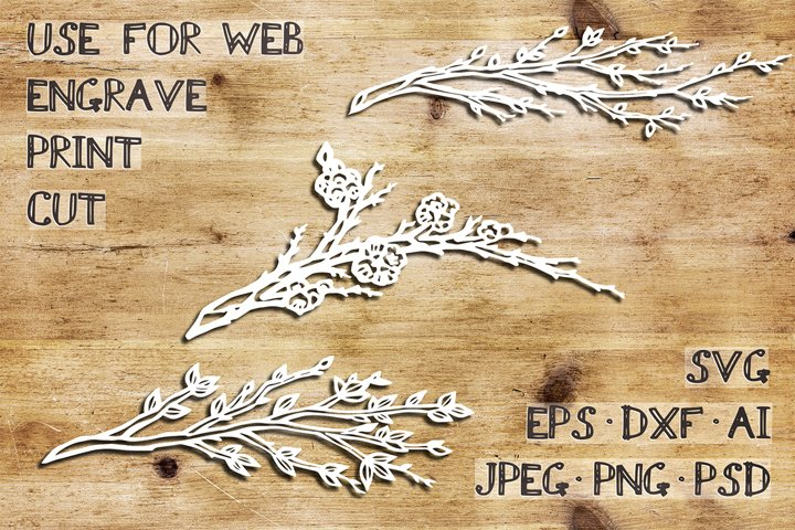 Spring branches| SVG DXF EPS PSD PNG JPEG