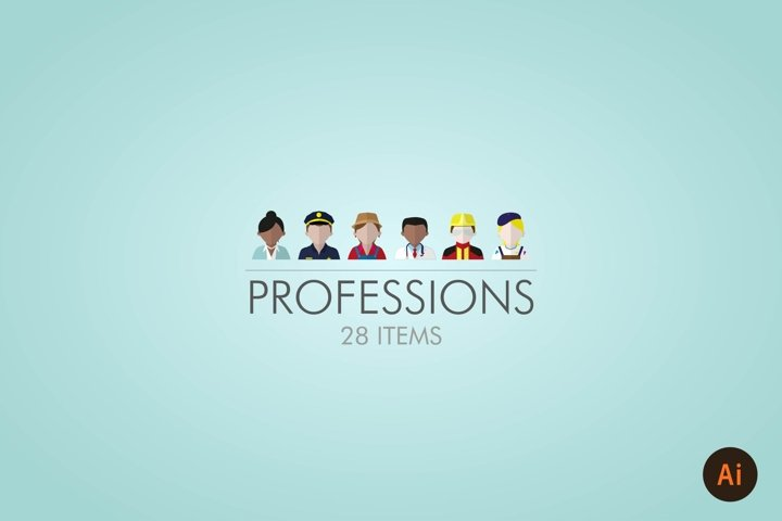 PROFESSIONS / PEOPLE  ICON SET