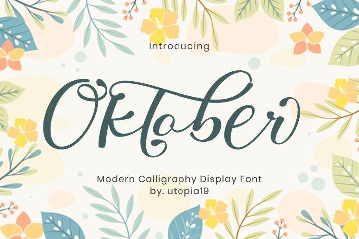 Oktober - Calligraphy Display Font