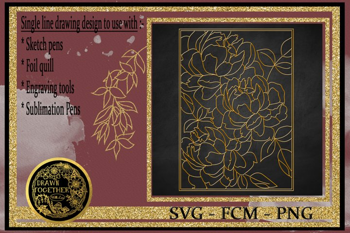 Peony 2 - Single line for foil quill