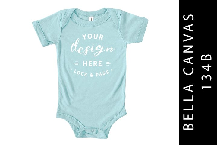 Baby Bella Canvas 134B Romper Mockup Suit Ice Blue