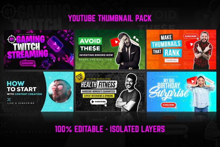 Youtube Thumbnail Templates Set 1