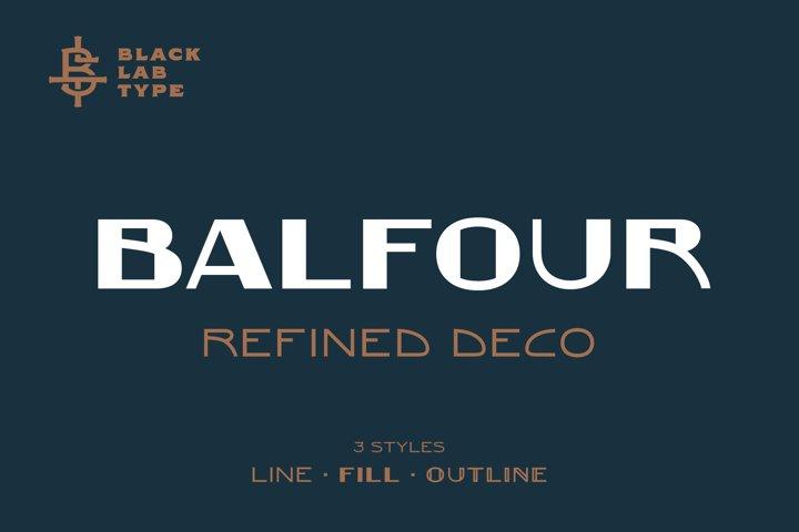 Balfour Art Deco Revival Font