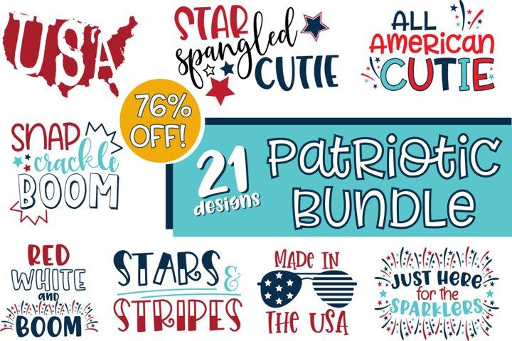Patriotic 4th of July SVG Bundle for Crafts