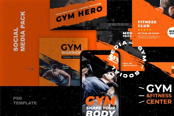 GYM - Fitness Modern Social Pack