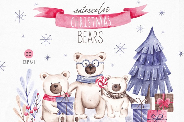 Christmas Bears Clipart