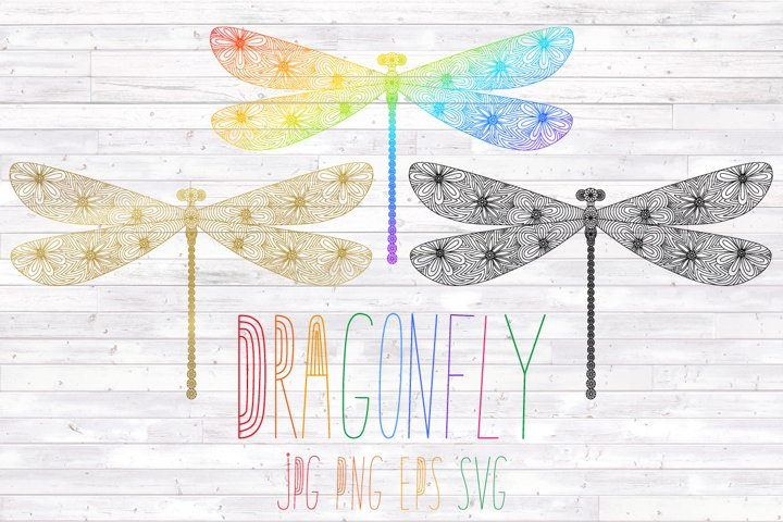 Dragonfly SVG insect,mandala PNG,sublimation,cut file