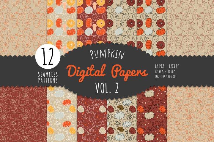 Pumpkin Digital Paper Pack- Vol. 2