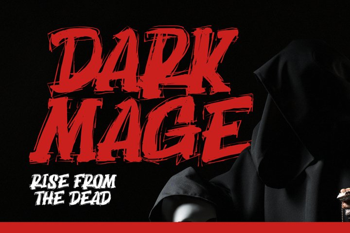Dark Mage - Scary typeface