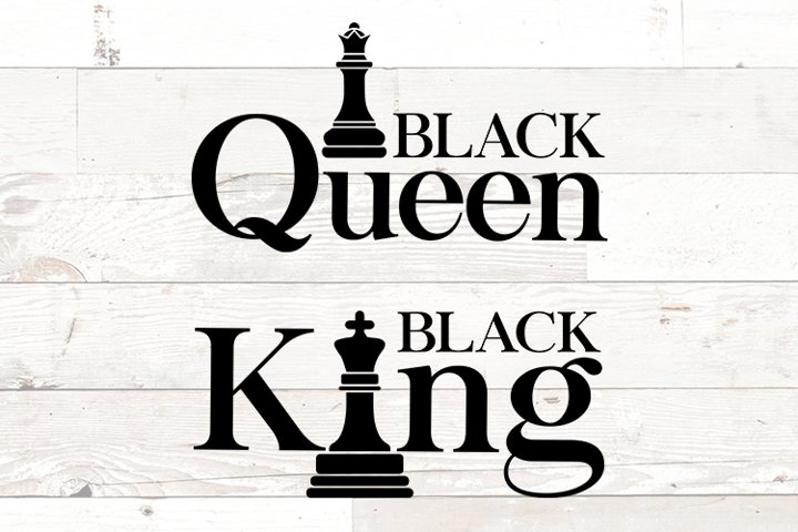 Black King and Queen chess - African American - Black Love
