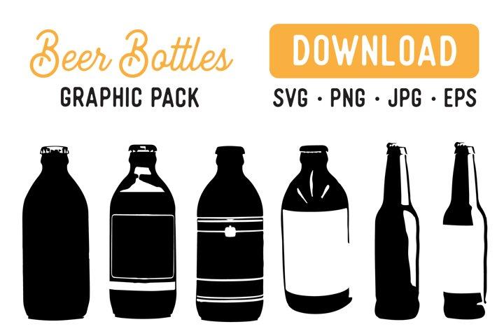 Beer Bottle Vector SVG Bundle - Bottle Graphic Bundle