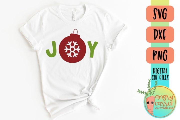 Joy SVG Files | Christmas Snowflake Ornament SVG