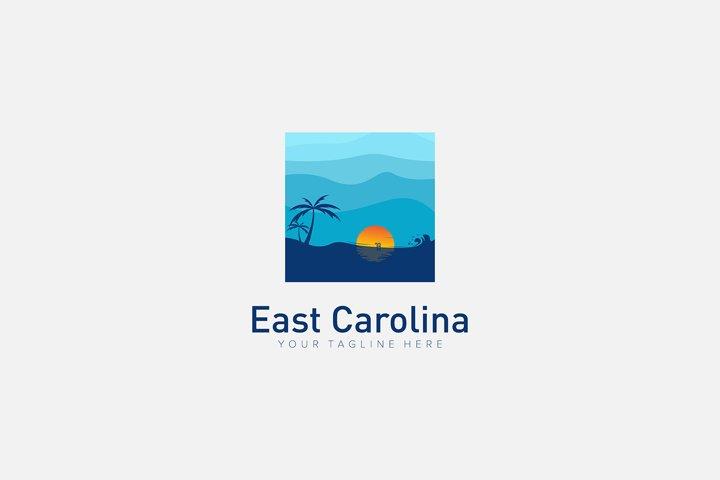 East Carolina Resort Logo Designs With Palm And Beach 750527 Logos Design Bundles