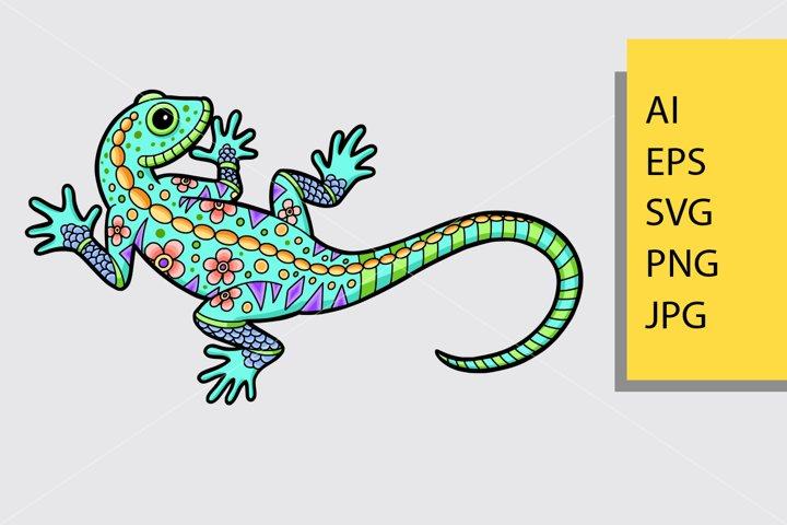 Lizard pattern decorative ornament