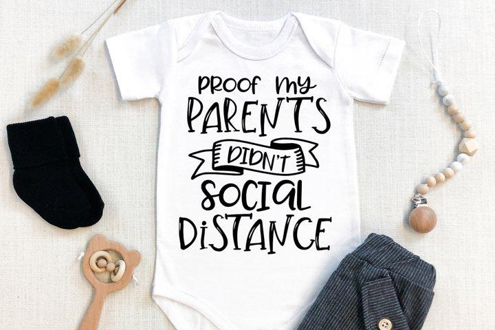 Pregnancy SVG - Proof My Parents