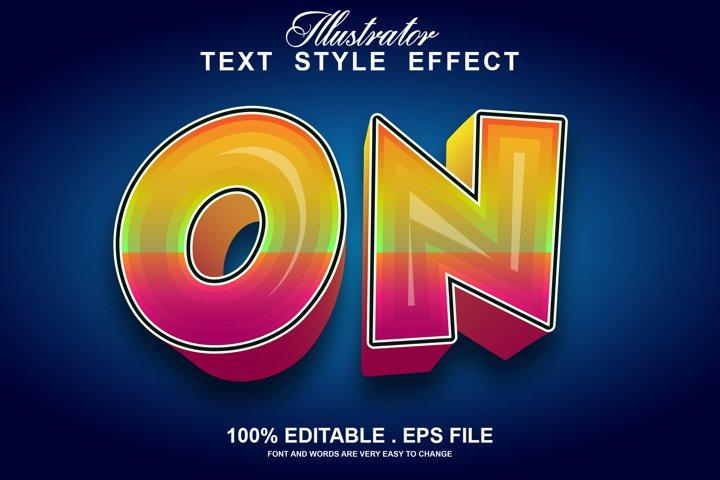 on text effect editable