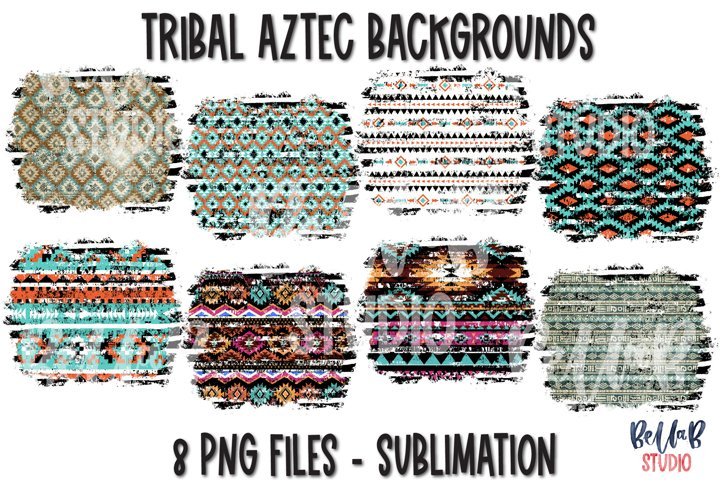 Tribal Aztec Background Bundle, Sublimation Backsplash