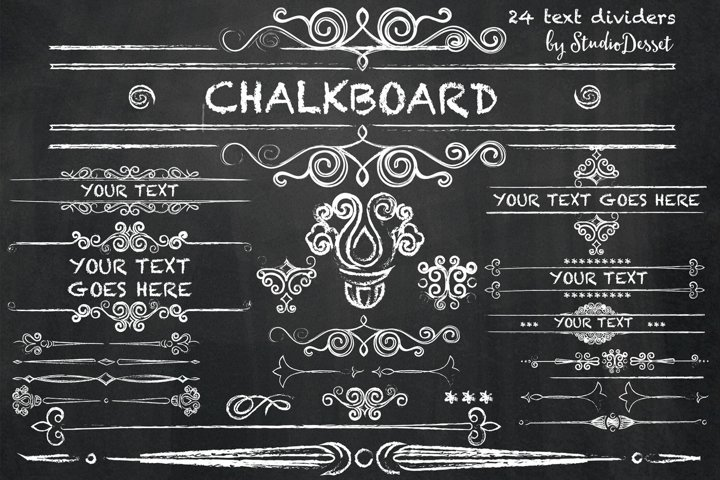 Chalkboard Text Dividers