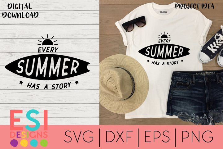 Summer | Every Summer has a Story |Silhouette Cricut