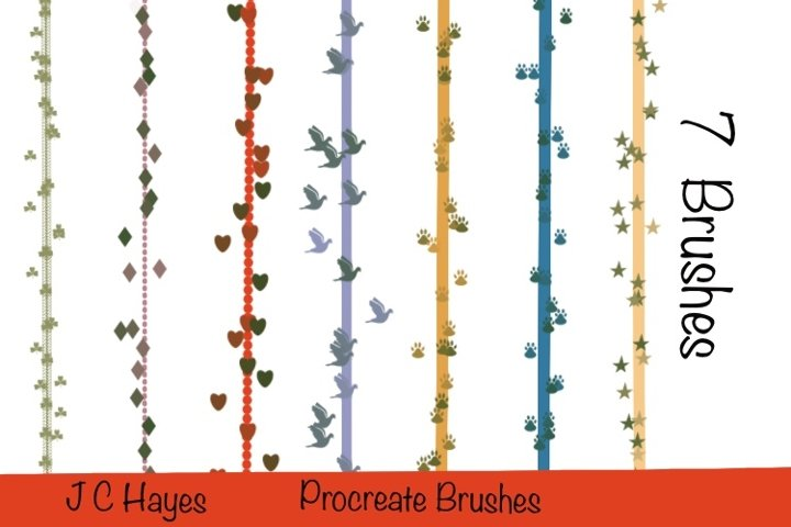 Seven Decorative Procreate Brushes