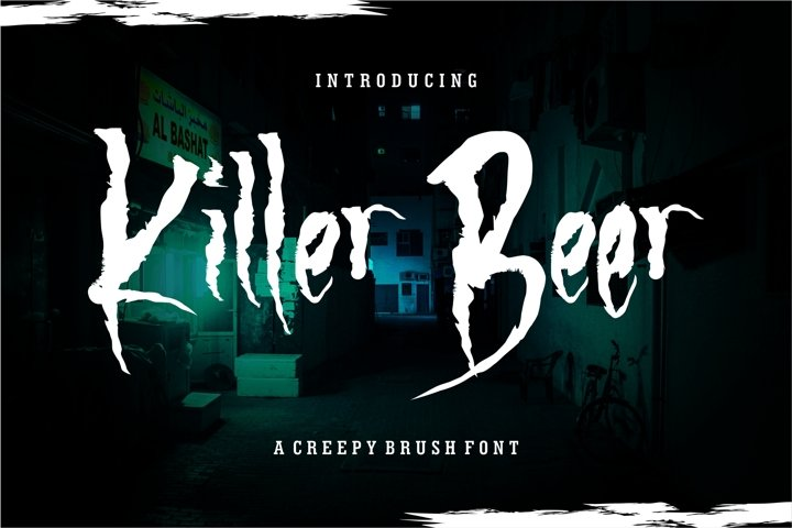 Killer Beer - A Creepy Brush Font