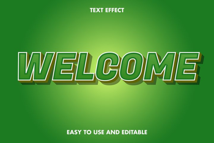 Welcome text effect. editable and easy to use. premium