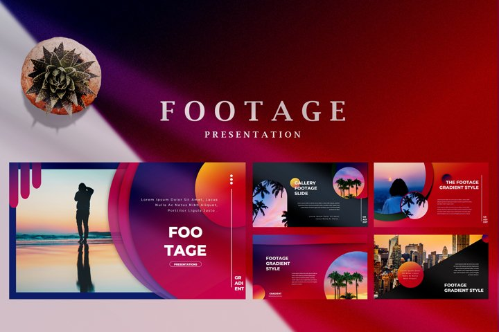 Footage Gradient - Creative Powerpoint Template