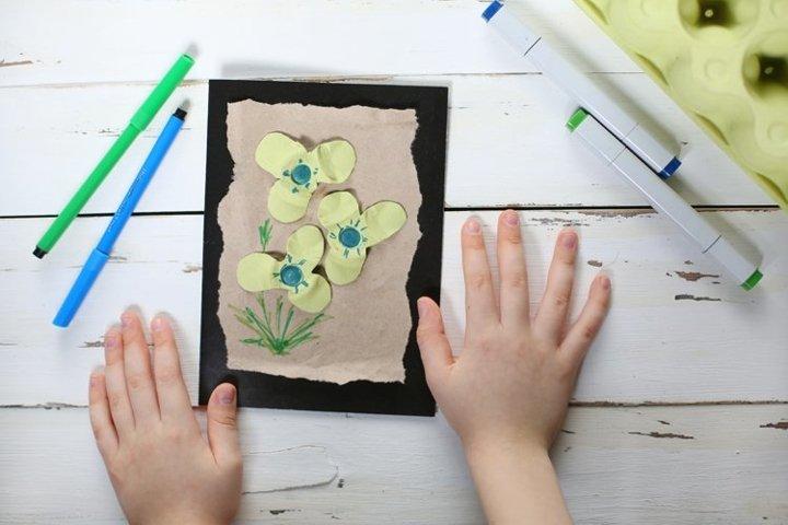 DIY Eco Birthday Card Instruction from waste
