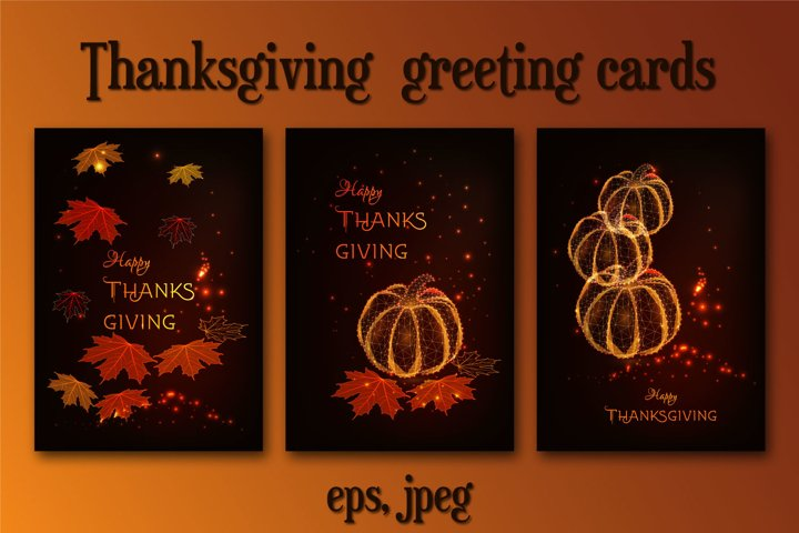 Thanksgiving greeting cards templates
