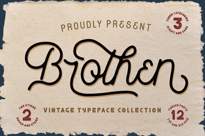 Brothen - Vintage Typeface Font