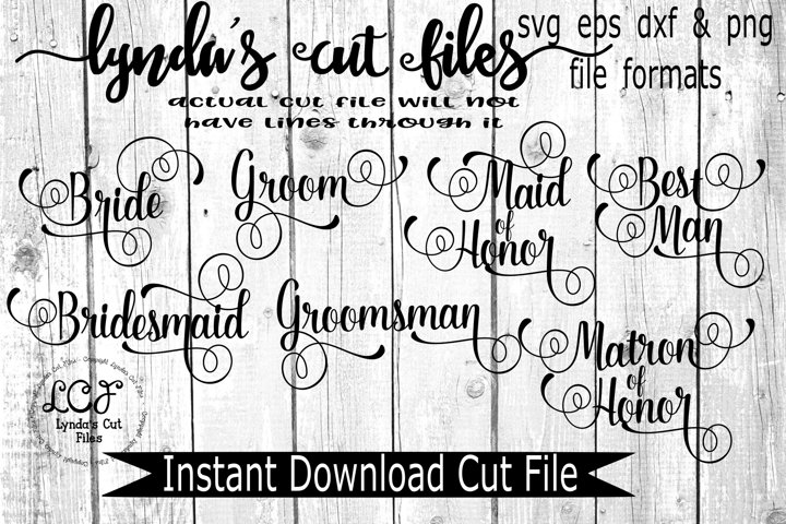 Bridal Party SVG/EPS/DXF File