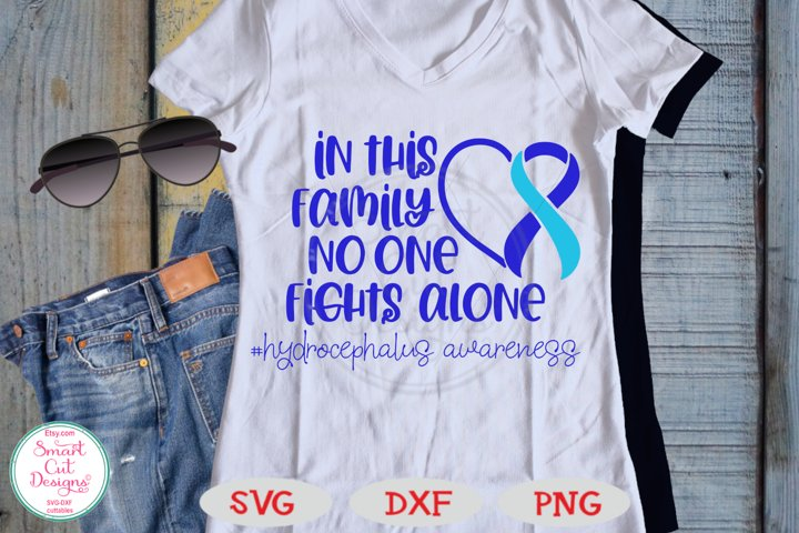 Hydrocephalus Awareness SVG, No One Figths Alone SVG, DXF