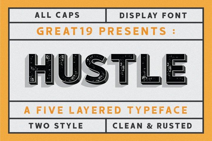 HUSTLE | 5 layers display font