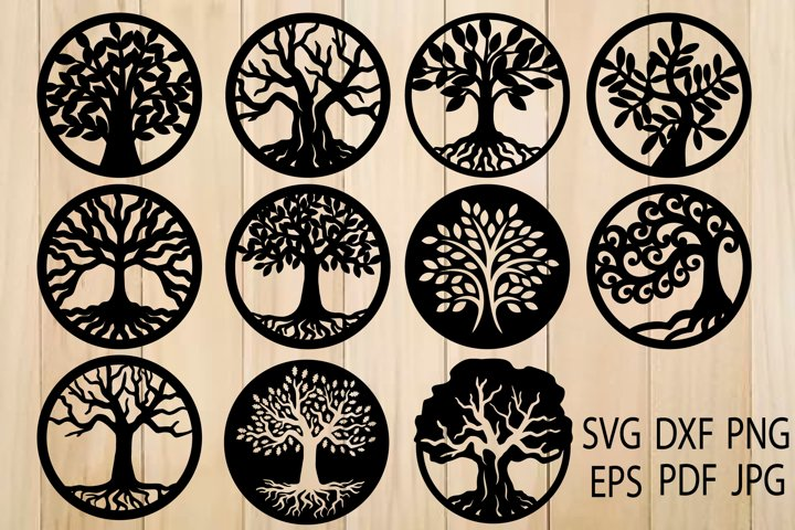 Tree of Life SVG, Trees, Tree Cut File, Tree SVG For Cutting - Free Design of The Week Design1