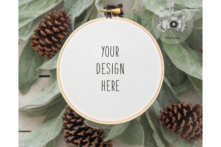 Embroidery Hoop Mockup  Cross Stitch Mock-up JPG PNG