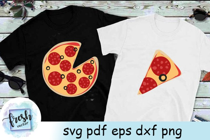 Pizza Slice svg Family Svg Shirt Dad and Baby Shirt