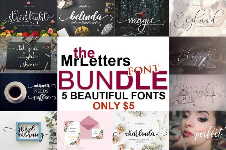 The MrLetters Font Bundle $1/Font