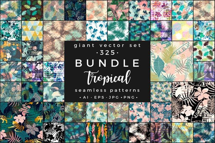 Tropical BUNDLE. 325 vector patterns