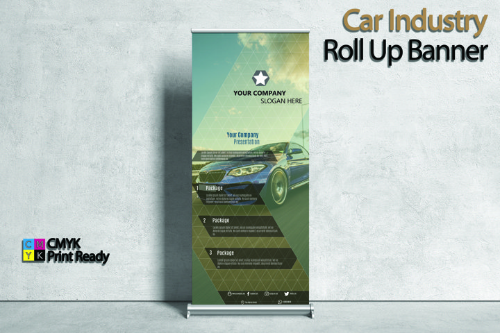 Automotive Industry Roll Up Banner
