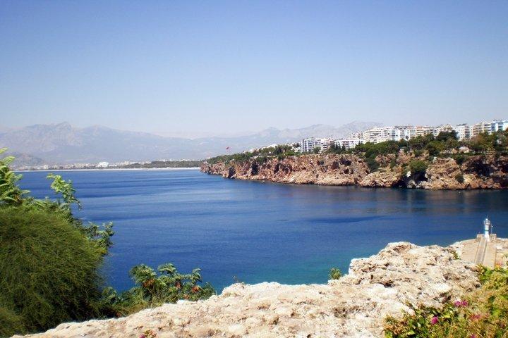 Mediterranean Sea in old city Kaleicy. Antalya