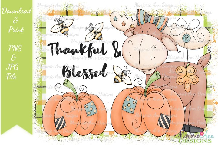 Thankful & Blessed PNG/JPG Sublimation Designs