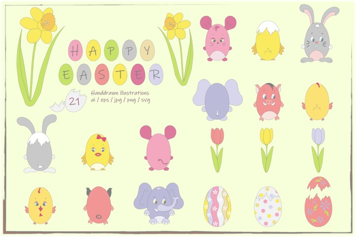 Happy Easter Clipart - DB005
