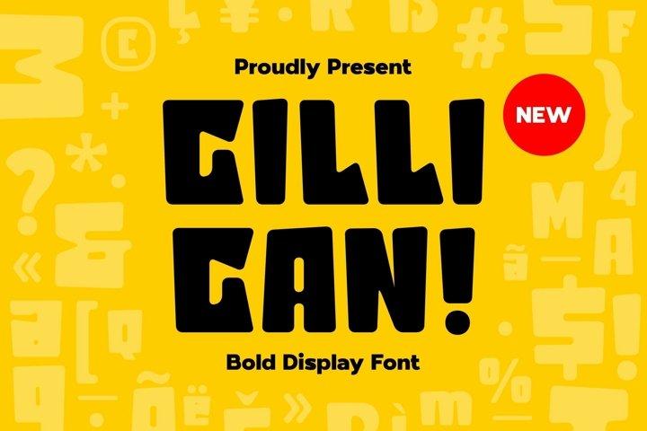 Web Font Gilligan - Bold Display Font