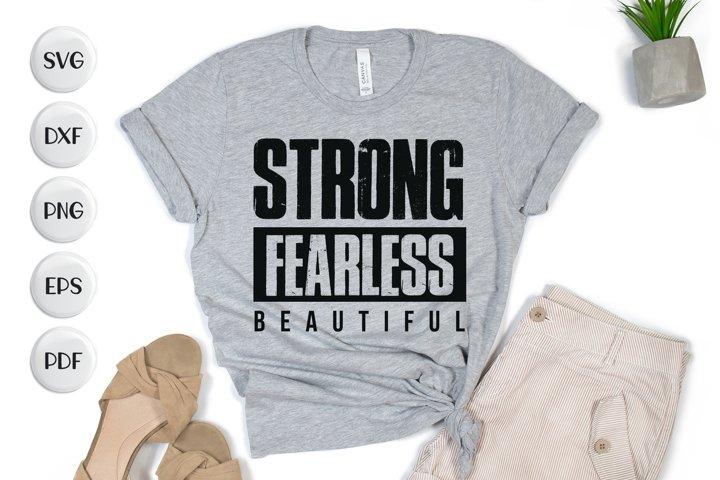Strong Fearless Beautiful, Workout SVG, Workout Design