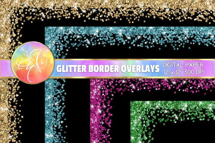 Glitter Borders Overlays 12x12