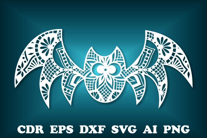 Spider SVG, Halloween svg, Cut file Mandala, Spider Clipart