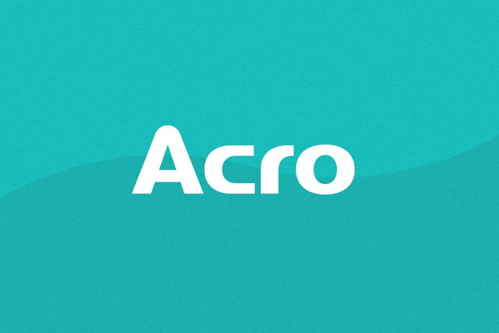 Acro Wordmark Font   Uppercase Logo